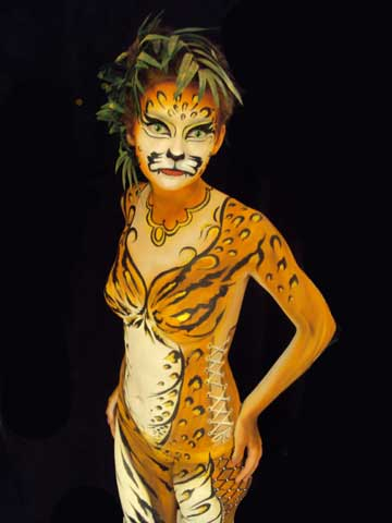 Yellow Body Paint For Halloween